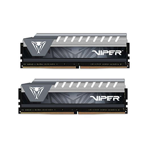 Patriot Viper Elite Series DDR4 16GB (2x8GB) 2666MHz PC4-21300 Dual Memory Kit (Black/Grey) PVE416G266C6KGY ()