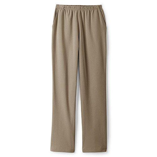 Lands' End Women's Sport Knit Pants, L, Khaki