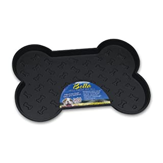 Loving Pets Bella Spill-Proof Pet Mat for Dogs, Large, Black