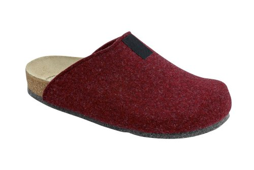 Bio-Hausschuh-Pantoffel TWEED Bordo