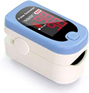 HealthSmart Pulse Oximeter That Displays Blood Oxygen Content and Pulse Rate with Red LED Display