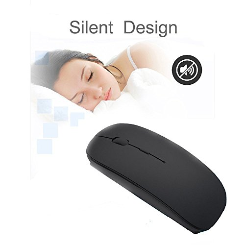 Wireless Mouse,BOOMER VIVI Rechargeable Portable Bluetooth 3.0 Slim Mice 3 Level Adjustable DPI Power-saving Model Built-in Battery with USB cable for PC Laptop Windows/Android Tablet,Mac by BOOMER VIVI (Image #3)