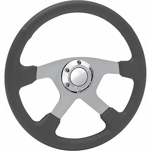 Grey Leather Spitzer GT Steering Wheel Helix HEXSTW15G Steering Wheel