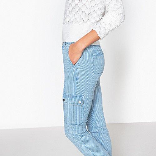 Redoute Blu Rigato La Donna Jeans A bianco Dritto Collections Righe Cargo axqSdwHx
