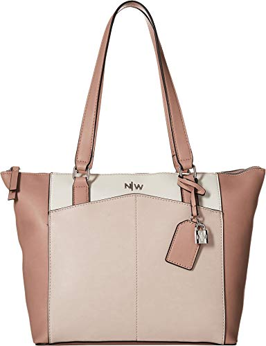 Nine West Women's Atwell Tote Blush Multi One Size (West Nine Handbags)