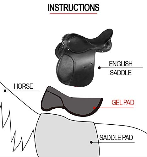 AceRugs SEAT Saver Gel Corrective Therapeutic English Riding Horse Saddle Half PAD Training Jumping Dressage Eventing