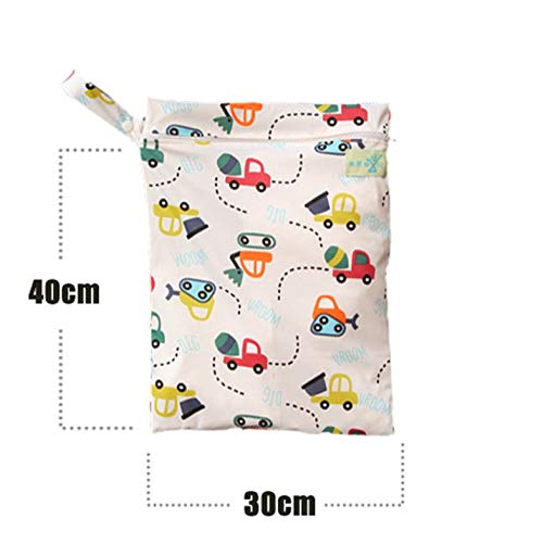 BianchiPamela Wet Dry Bag Splice Cloth Diaper Wet Bags Waterproof Double Infant Stroller