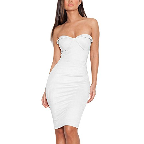 Schlauch Damen Weiß Kleid Weiß HLBandage Weiß Weiß qX5wqd