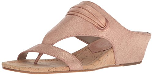 Donald J Pliner Women's Dionne Wedge Sandal, Rose Gold, 7.5 Medium US