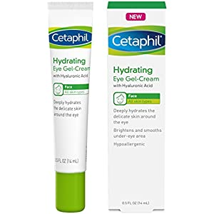 Cetaphil Hydrating Eye Gel-Cream With Hyaluronic Acid - Designed to Deeply Hydrate, Brighten & Smooth Under-Eye Area - For All Skin Types - Hypoallergenic.