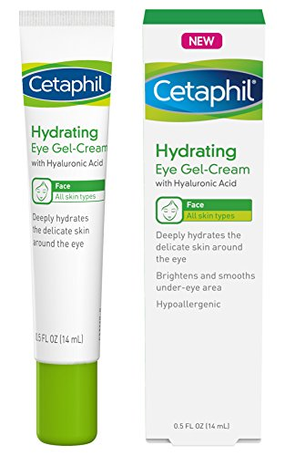Cetaphil Hydrating Eye Gel-Cream With Hyaluronic Acid - Designed to Deeply Hydrate, Brighten & Smooth Under-Eye Area - For All Skin Types - Hypoallergenic & Suitable for Sensitive Skin - 0.5 Fl. Oz (Best Eye Cream To Brighten Dark Circles)