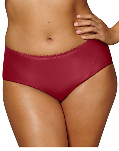 Playtex Women's Incredibly Smooth Cheeky Hipster, Scarlet Berry, XX-Large