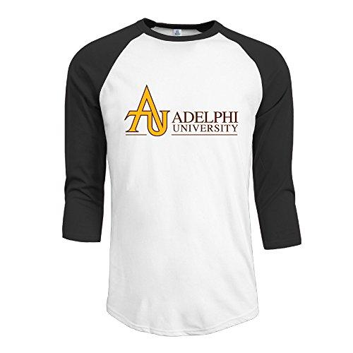 SKOMC AU Adelphi University 3/4 Sleeve Baseball T-shirts For Mens Black