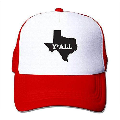 ZhiqianDF Momen Texas Yall Funny Jogging Red Mesh Hat Adjustable Snapback (Calculator High Heel)