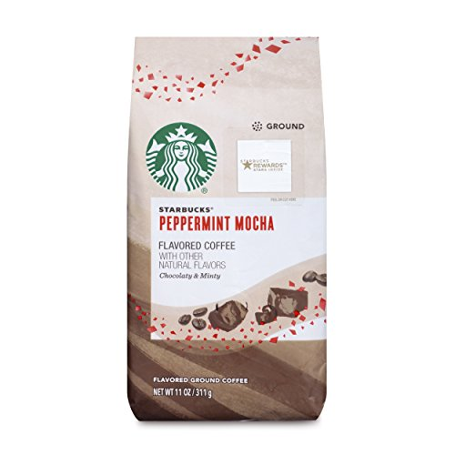 Starbucks Peppermint Mocha Flavored Ground Coffee, 11-Ounce (6 Pack)