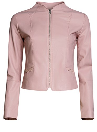 oodji in Ultra Rosa Donna Ecopelle con Zip 4a00n Giacca trrATwq