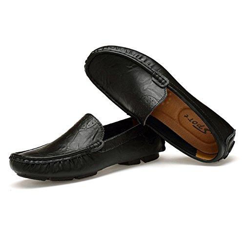 da On Low Guida da Uomo Slip Scarpe Penny Classic Scarpe nero Loafers Mocassini Top FZUU Ew4p18qx