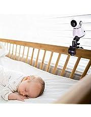 universale Supporto per baby monitor, Supporto per baby monitor per culla o mensola a muro, supporto flessibile per videocamera per bambini, montaggio versatile Non sono necessari strumenti