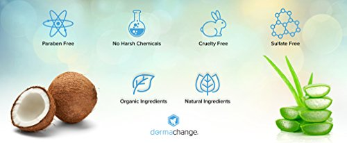 DermaChange Organic Hair Growth Shampoo And Conditioner Set - Volumizing And Moisturizing - Sulfate Free - Hair Regrowth Products With Vitamins - Stop Hair Loss - For Woman And Men 236oz Medium Size