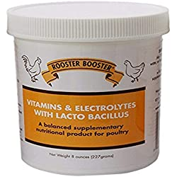 Rooster Booster Vitamins and Electrolytes Lactobacillus Poultry Care Jar (8oz)