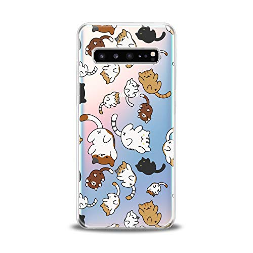 Lex Altern TPU Case for Samsung Galaxy s10 5G Plus 10e Note 9 s9 s8 s7 New Cute Cats Clear Kawaii Animal Cover Soft Silicone Ass 2018 Print Kitten Protective Themed Design Transparent Kids Girls Gift]()