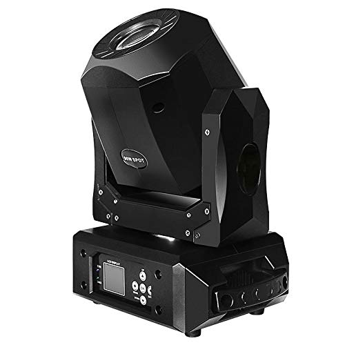 Toran Home LED Moving Head Light 90W Fast Silent 3 Facet Prism Clear Rotating GOBO Wheel DMX512/Master-Slave/Auto Run for DJ Party Disco KTV Nightclub ()