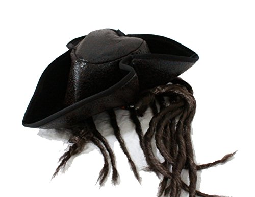 Gold Digger Costume Accessories (HALLOWEEN COSPLAY CAPTAIN JACK DREADLOCK BRAIDS PARTY PIRATE HAT G0307)