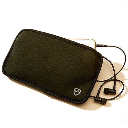 """(SYB Horizontal Phone Pouch, Neoprene EMF Protection Sleeve for Cell Phones up to 6.75"""" x)"""
