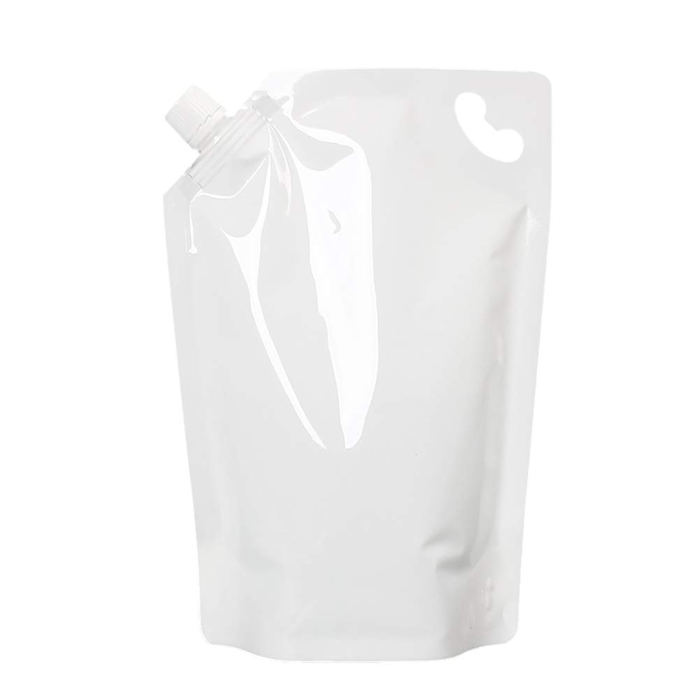 (Price/50 PCS) Aspire White Poly Spouted Stand up Pouch with Handle (1.75-96 OZ), FDA Compliant, BPA Free-White-1.75 oz