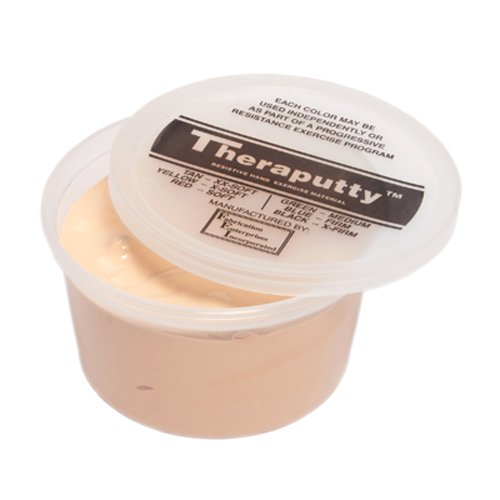 CanDo TheraPutty Standard Exercise Putty, Black: X-Firm, 50 lb by Cando