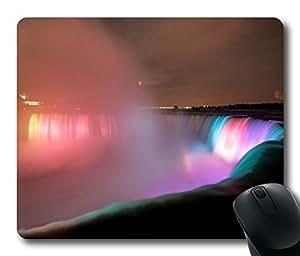 Personalized Custom Mouse Pad Oblong Shaped Niagara Falls At Night