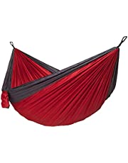 Camping Hammock, Portable Double Hammock, Breathable, Small Storage Volume, Portable and Convenient, Suitable for: Travel, Beach, Backyard Size: 270 * 140Cm,B