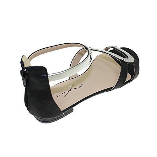 Talon Et De Black Minimaliste Sangle Argenté Andie Sandale Z Lunar Avec Zip wq0IgX