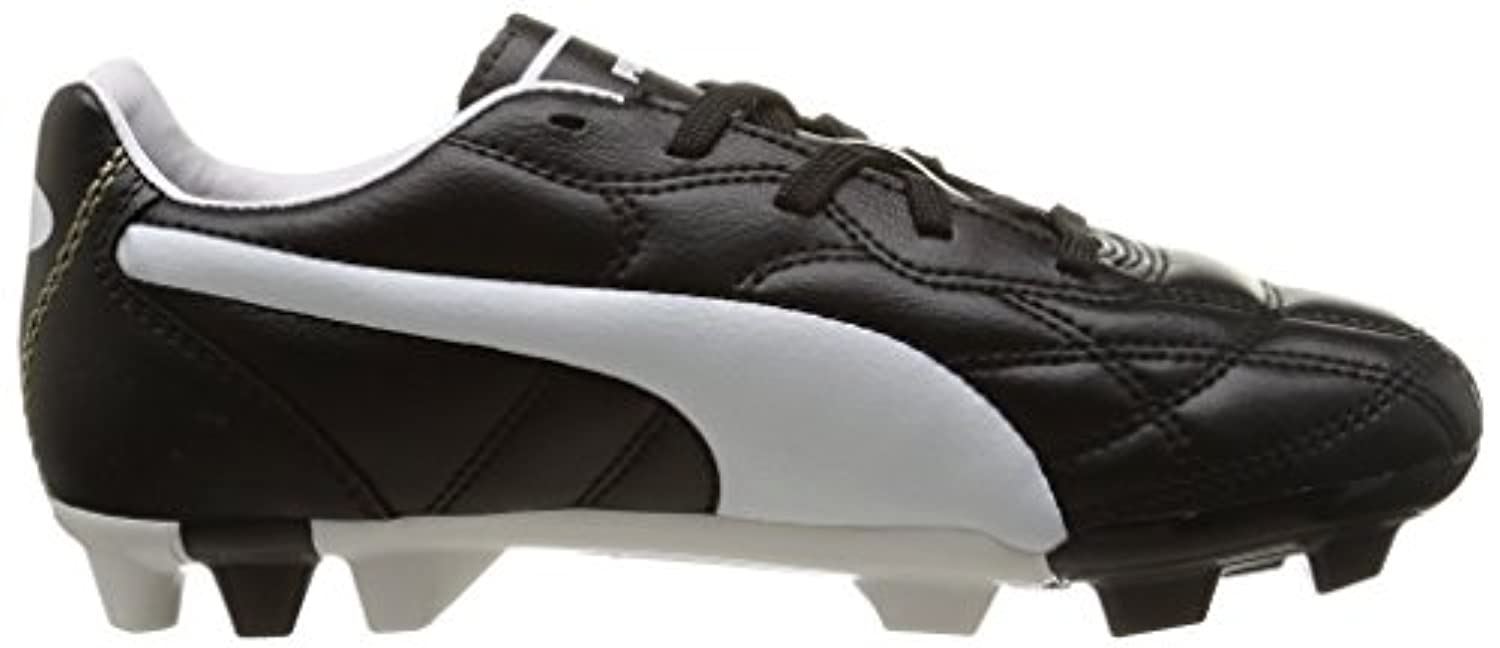 Puma Unisex Kids' Classico Football boots (training), Black (black/white/gold), 1 UK