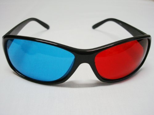 (3D Red-Blue / Cyan Anaglyph Simple Style Glasses Movie Game-Extra Upgrade Style)