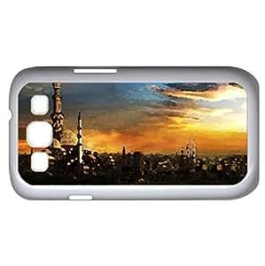 Cityscape - Watercolor style - Case Cover For Samsung Galaxy S3 i9300 (White)