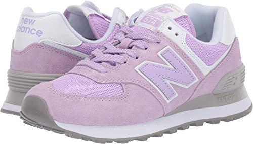 New Balance Women's 574v2 Sneaker, Violet glo/White, 8.5 B US