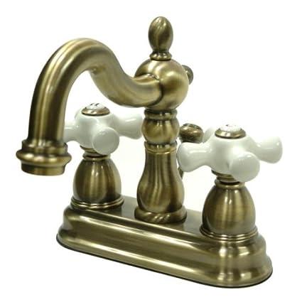 Wondrous Kingston Brass Kb1603Px Heritage 4 Inch Centerset Lavatory Faucet With Porcelain Cross Handle Vintage Brass Best Image Libraries Ponolprimenicaraguapropertycom