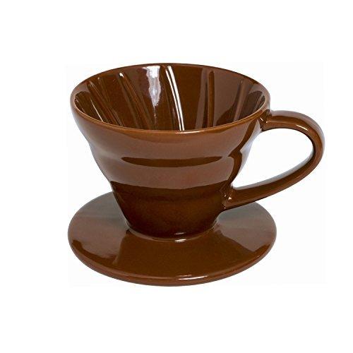 Ceramic Coffee Dripper, 1-2 Cup (Brown)