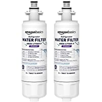 AmazonBasics Replacement LG LT700P Refrigerator Water Filter - Premium Filtration - 2-Pack