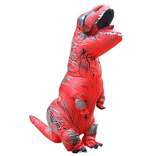 STYLOWY Funny Dinosaur Inflatable Costumes for Adult & Kids with Inflatable Costume Fan Red