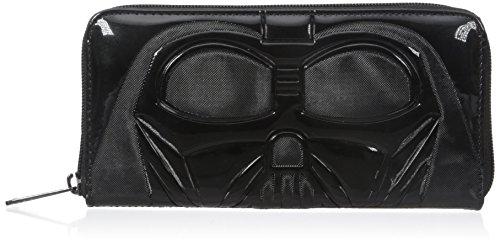 Loungefly Star Wars Darth Vader Patent Wallet, Black, One Size (Darth Vader Purse)