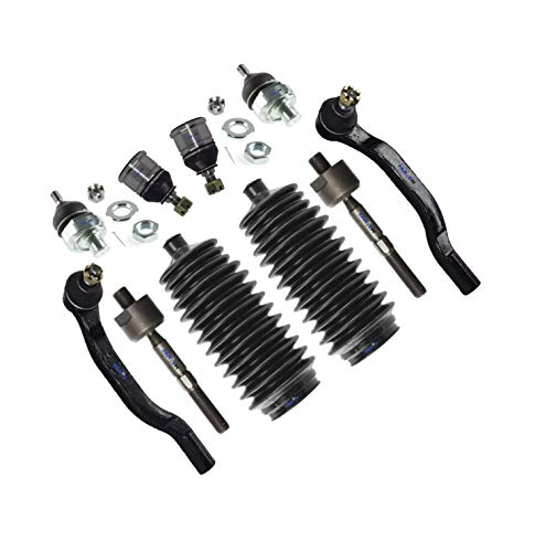 PartsW 10 Pc Suspension Kit for Honda Accord/Rack & Pinion Bellow Boots, Tie Rod Linkages and Upper Ball Joints (Adjustable)