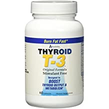 Absolute Nutrition Fat Burning Metabolism Boosting Supplement, Thyroid T-3, 60 Capsules