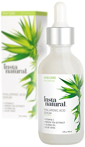 InstaNatural Hyaluronic Acid Serum - Anti Aging Serum for Face - Reduces Wrinkles, Fine Lines & More - For Youthful & Radiant Skin - With Vitamin C Serum and More (Hydrating Face Serum)