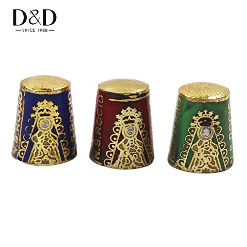 ShineBear D 1pc Antique Style Metal Sewing Thimble Cloisonne Technology Finger Protector Household Sewing Tools Nice Collection