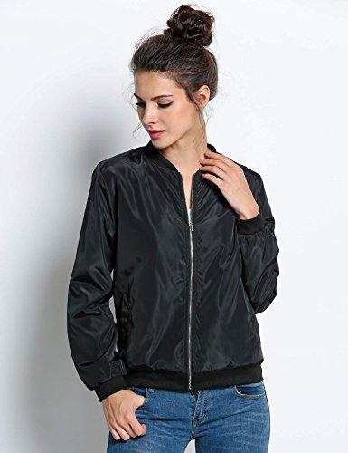 Blouson Court Zipper Casual Mode Veste Manteau Biker Souple Bomber Nouvelle Moto Femme Jacket Noir Mince Pagacat wS6tCqp