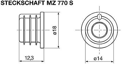 Support avec adaptateur Cellule photo Capteur de flamme MZ770S Satronic R/éf/érence : 51001