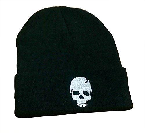 (TOKYO-T Skull Hat For Men/Women Hip Hop Cap Punk Rock Beanie (White))