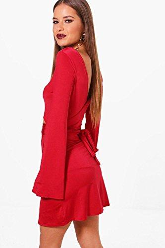 Kobalt Damen Petite Demi Tie Waist Wrap Dress Kobalt JLkjCi1 ...